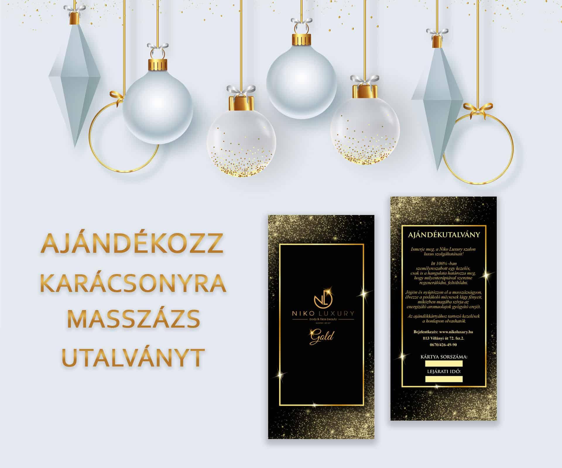 masszázs ajándékutalvány karácsonyra