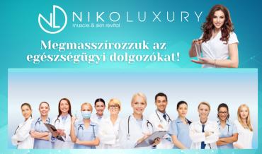 ajándék masszázs a niko luxury szalonaban egészségügyi dolgozóknak